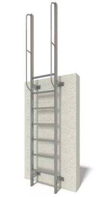 1. scala con montanti laterali